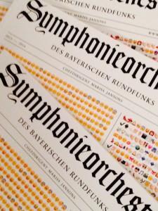 2015 April Reportagen von Justus-SchülerInnen im Jahrbuch des BR-Symphonieorchesters