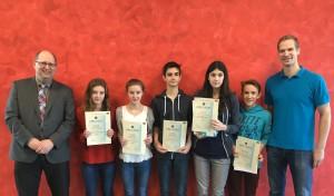 2015 Dezember Landeswettbewerb Mathematik Preisverleihung am Justus
