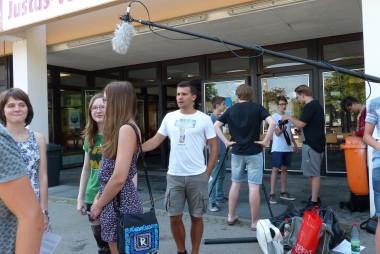 2015 Juli Filmworkshop von Michael Kalb - Voller Einsatz auch bei mehr asl 30 Grad im Schatten