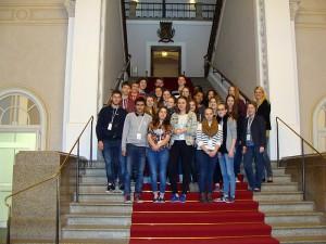 2015 März Klasse 10a im Bayerischen Landtag