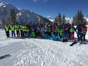 2015 März Skikurs in der Zugspitzarena SchülerInnen und Lehrkräfte