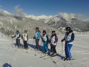 """2015 März Skikurs in der Zugspitzarena - die """"weiße Gruppe"""""""