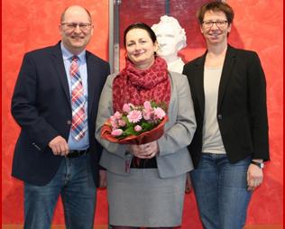 Das Justus-Direktoratsteam: Schulleiter Stefan Düll, künftige Ständige Stellvertreterin Carlette Sandu, Mitarbeiterin Birgit Schöffler