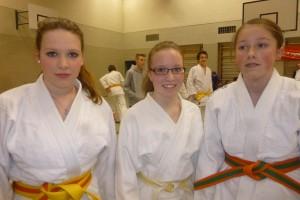 Siegerinnen im Bezirksfinale v.l. Cara Berlis, Carolin Tobias Elena Schick(Mädchen AKII)